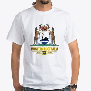 """""""Western Australia COA"""" White T-Shirt"""
