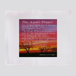 The Lord's Prayer Throw Blanket