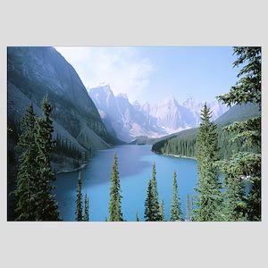 High angle view of a lake, Moraine Lake, Banff Nat