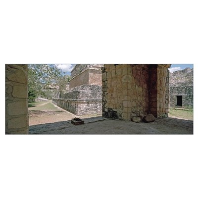 Mexico, Yucatan, Ek Balam Archaeological Site Framed Print