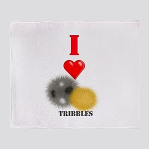 I Heart Tribbles Throw Blanket