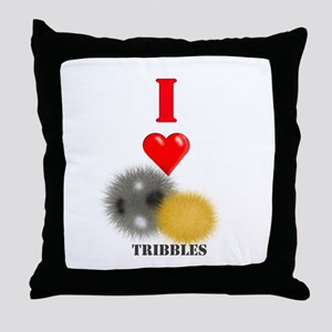 I Heart Tribbles Throw Pillow
