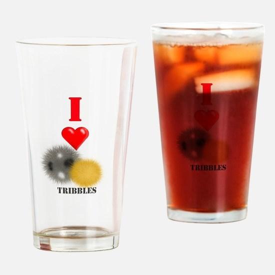 I Heart Tribbles Drinking Glass