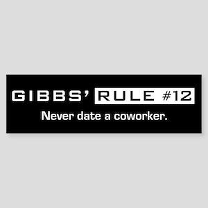 NCIS Gibbs' Rule #12 Sticker (Bumper)