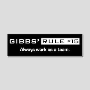 NCIS Gibbs' Rule #15 Car Magnet 10 x 3