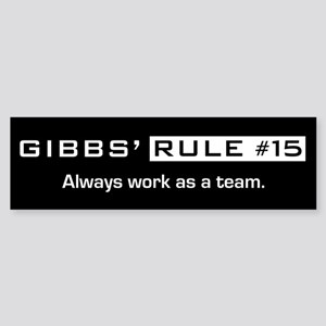 NCIS Gibbs' Rule #15 Sticker (Bumper)