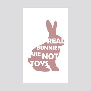 REAL BUNNIES ARE NOT TOYS - P Sticker (Rectangle)