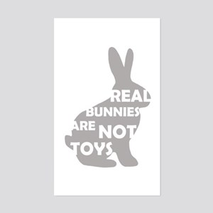 REAL BUNNIES ARE NOT TOYS - G Sticker (Rectangle)