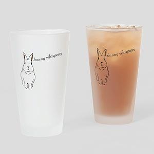 bunny whisperer Drinking Glass
