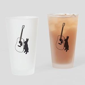 bunny & guitar Drinking Glass