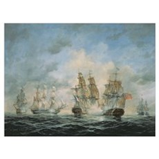 19th Century Naval Engagement in Home Waters Canvas Art