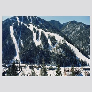 High angle view of a village, Taos Ski Valley, Red