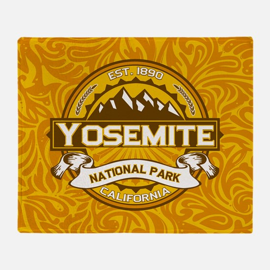 Yosemite Goldenrod Throw Blanket