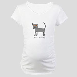 Autistic Cat Maternity T-Shirt