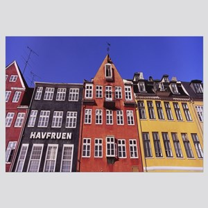 Low angle view of houses, Nyhavn, Copenhagen, Denm