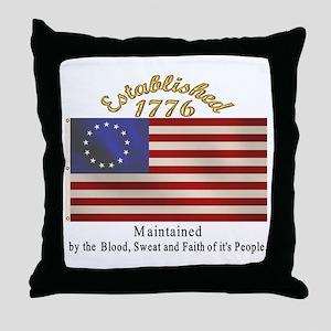 Established 1776 Throw Pillow