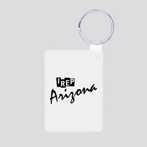 I rep Arizona Aluminum Photo Keychain
