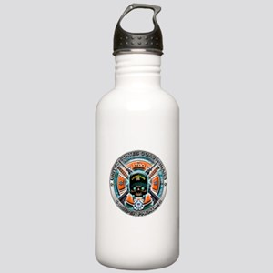US Coast Guard 1790 Skull Stainless Water Bottle 1