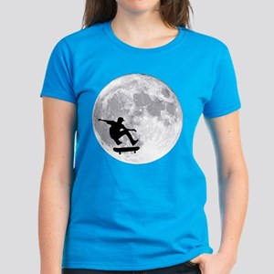 Moon skateboard Women's Dark T-Shirt