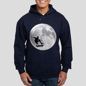 Moon skateboard Hoodie (dark)