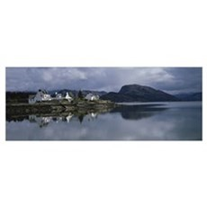 Residential structure on the waterfront, Plockton, Framed Print