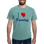 I Heart Running Mens Comfort Color T-Shirts
