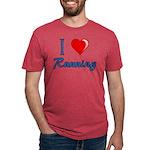 I Heart Running Mens Tri-blend T-Shirts