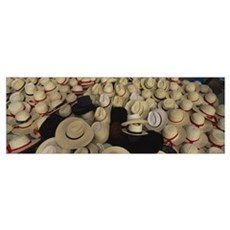 High angle view of hats in a market stall, San Fra Canvas Art