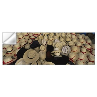 High angle view of hats in a market stall, San Fra Wall Decal