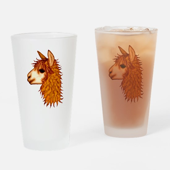 Cute Camelid Drinking Glass