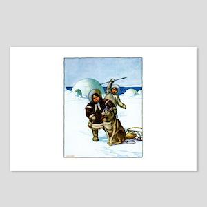 Eskimoes & Husky Postcards (Package of 8)