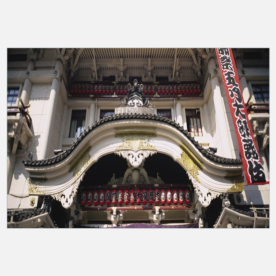 Facade of a theater, Kabuki Theater, Ginza, Tokyo