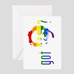 Rainbow Harvey Milk Greeting Card