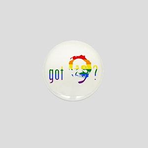 Rainbow Harvey Milk Mini Button