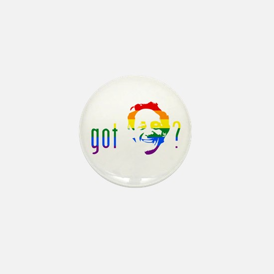 Rainbow Harvey Milk Mini Button