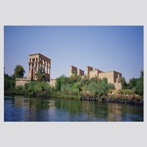 Ruins of a building at the waterfront, Aswan, Egyp