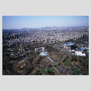 Aerial view of World's Fair Globe, Manhattan, New