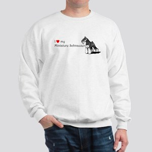 Love My Mini-Schnauzer Sweatshirt