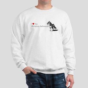 Love My Mini-Schnauzer Sweatshirt