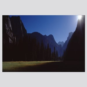 Silhouette of mountains, Yosemite Valley, Californ