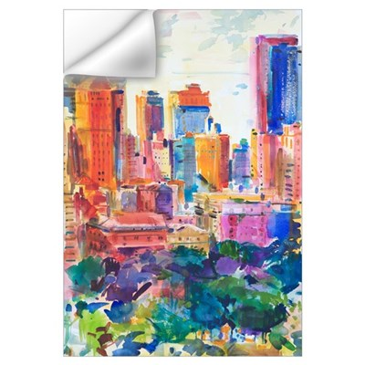 Central Park West, 2011 (w/c on paper) Wall Decal