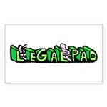 Legal Pad Sticker (Rectangle 50 pk)