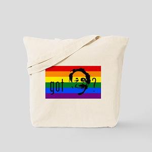 Rainbow Flag Harvey Milk Tote Bag
