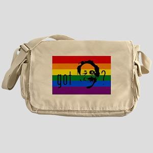 Rainbow Flag Harvey Milk Messenger Bag