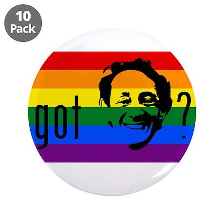 """Rainbow Flag Harvey Milk 3.5"""" Button (10 pack)"""