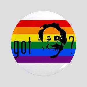 """Rainbow Flag Harvey Milk 3.5"""" Button"""