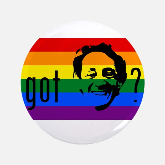 "Rainbow Flag Harvey Milk 3.5"" Button"