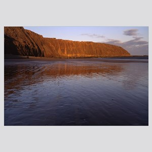 Reflection of a hill in water, Filey Brigg, Scarbo