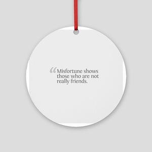 Aristotle Misfortune Ornament (Round)