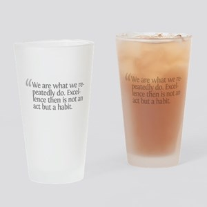 Aristotle We are what we repe Drinking Glass